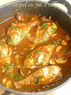Ostropel-cu-pui-si-ciuperci-2 Healthy Meal Prep, Healthy Recipes, Yummy Drinks, Yummy Food, Romania Food, Tumblr Food, Food Cravings, Love Food, Chicken Recipes