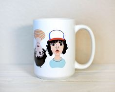 Stranger Things Mug, Stranger Things, Stranger Things Gift, The Upside Down, Friends Don't Lie, TV Shows, TV Gifts, Netflix, Halloween Mug by LoveYouMeanItShop on Etsy https://www.etsy.com/listing/567612695/stranger-things-mug-stranger-things