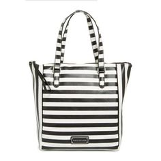 """Marc by Marc Jacobs """"Take Me"""" Stripe Tote Bag Brand new without tags.   Measurements: approximately 14 """" x 11.5 """".   8"""" shoulder strap drop. 100% cow leather. Zipper closure. Cotton lining. One interior zip and one slip pocket.  Comes with dust bag. Price negotiable. Marc by Marc Jacobs Bags Totes"""