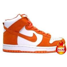 hot sale online 7bef7 25b97 Mens Nike Dunk High Supreme SB White College Orange