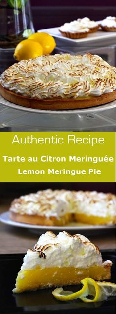 Lemon meringue pie is a delicious dessert combining the acidity of lemon with the sweetness of the meringue. #vegetarian #dessert #swiss #french #france