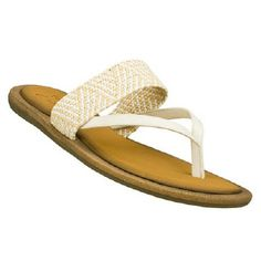 Skechers Cali Women's Indulge Flip Flop Sandals (White/Natural)