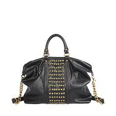 Steve Madden gold and black studded bag