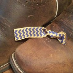 Purple and Gold Chevron! $1.75! From southern ties and designs! Email if interested! Southerntiesanddesigns@gmail.com