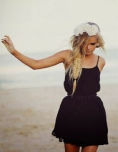 Stylish black dress for beaches