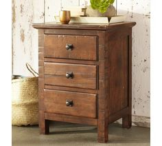 Mason Bedside Table - Rustic Mahogany finish | Pottery Barn