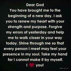 A daily prayer to God. Faith Prayer, My Prayer, Prayer Room, Husband Prayer, Prayer Closet, Bible Quotes, Bible Verses, Scriptures, Wisdom Bible
