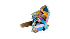 Rainbow Crystal Ring #6 Side