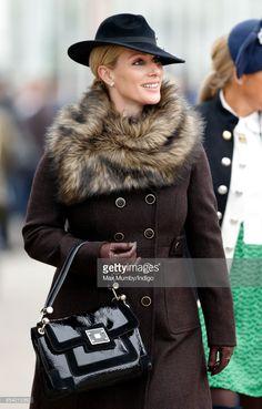 Zara Phillips attends day 3 of the Cheltenham Festival at Cheltenham Racecourse on March 16, 2017 in Cheltenham, England.