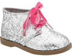 Old Navy Glitter Ankle Boots For Baby - Silver glitter oh my granddaughter will have these. Toddler Girl Shoes, Kid Shoes, Girls Shoes, Baby Shoes, Baby Girl Fashion, Toddler Fashion, Kids Fashion, Glitter Shoes, Glitter Bomb