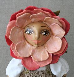 Folk Art Rose Doll  Primitive Appalachian Folk by millercampbell, $275.00