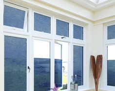 This nautical themed conservatory is complemented by blue perfect fit blinds. Nautical Blinds, Nautical Home, Perfect Fit Blinds, Fitted Blinds, Best Blinds, Roller Blinds, Blinds For Windows, Shutters, Venetian