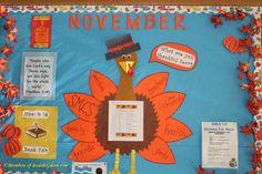 Bulletin Board: Another cute bulletin board idea for a turkey theme!