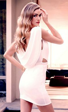 Gorgeous Backless Ivory Dress