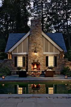 Charles Hilton - Architect - Greenwich - Landscape - Colonial - American Country - Cottage - Patio - Garden - Pool - Grounds - Fireplace - Cozy - Woods