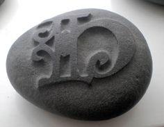 Letter on Stone. My own Artwork.  made by ©Soffía Árnadóttir on Soffiart