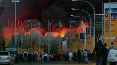 Nairobi airport closes as fire crews tackle blaze