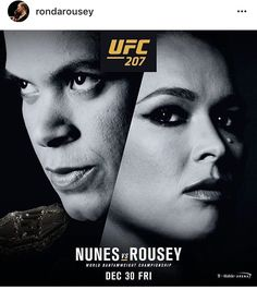 Ronda Rousey is back! December 30, 2016. Bantamweight title.