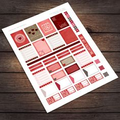 Valentine's Day Printable Stickers for Erin Condren Life Planner / by VNBDesigns