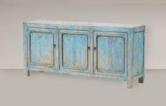 Cómoda azul madera antigua mueble oriental. Muebles vintage orientales en Tony Malony. Reserva online o visita nuestra tienda en Palma de Mallorca.