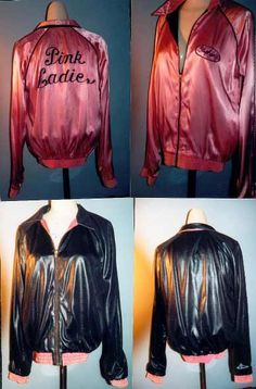 Grease 2 -- Stephanie Zinone Pink Ladies Jacket- have one, but wouldn't mind having a more authentic one Grease 2, Pink Ladies Grease, Pink Lady Costume, Grease Is The Word, 80s Party Outfits, Pink Ladies Jacket, Hollywood Costume, Michelle Pfeiffer, Beautiful Disaster
