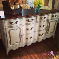 Milk Painted French Provincial Buffet.....