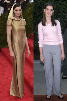 Anne Hathaway made her red carpet debut at the Fox TV Up Front celebration in 1999. See 44 other celebrities' first big events. http://CelebNewsPlus.com