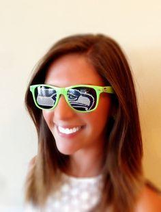 Seattle Seahawks Glasses Sunglasses Nfl Nba Ncaa Nba Any Team Any Color Customize Tail Gate Bride Groom Wedding Sports Football Wayfarer