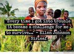 Click to read the full story of Liberia's first female president, Ellen Johnson Sirleaf.