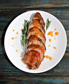 Apricot Glazed Pork Tenderloin ~ juicy tender pork with flavor-packed fruit glaze, ideal for weeknights or entertaining. Stove to table in under 30 minutes.