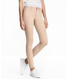 Super Skinny Regular Jeans   Mittelblau   Damen   H&M DE