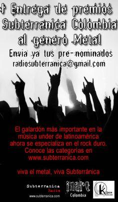 Afiche Premios Metal 2008
