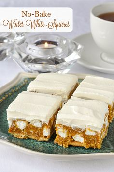 Winter White Cookies. Ideal for the Holiday freezer. These easy-to-make treats are no bake & are so crunchy, caramel-y delicious too! One of the great recipes in our #RockRecipes100Cookies4Christmas collection.
