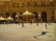 Brian Blood - Piazza de Repubblica Florence- Oil - Painting entry - January 2014 | BoldBrush Painting Competition