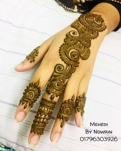 By @mehedi_by_nowrin1633 #mehndi #mehndiart #mendhi #mehendi #mehendiart #hennaartist #hennadesign #mehndiartist #mehndidesign #hennafun… Simple Arabic Mehndi Designs, Mehndi Designs Book, Mehndi Design Pictures, Modern Mehndi Designs, Mehndi Designs For Girls, Mehndi Designs For Beginners, Beautiful Henna Designs, Mehndi Designs For Fingers, Dulhan Mehndi Designs