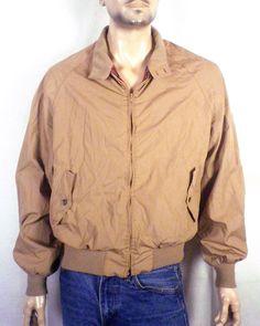 vtg 70s 80s Baracuta G9 Harrington Jacket red tartan plaid Steve McQueen 46 R