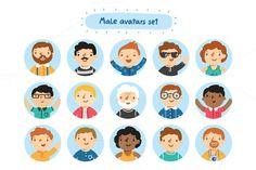 male avatar set