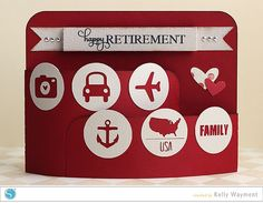 Retirement Bendy Card by Kelly Wayment by krafting kelly, via Flickr