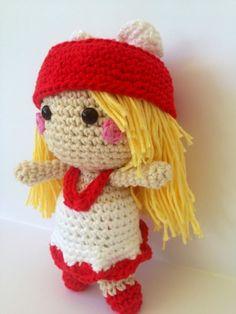 Amigurumi Muñeca Lovely Doll ~ Patrón Gratis en Español http://lacarmelita99.blogspot.com.es/2013/07/lovely-amigurumi-doll.html