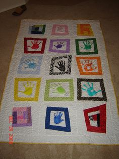 Handprint Quilt Idea
