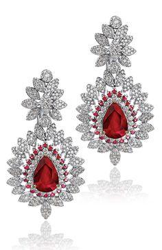 #ruby #earrings #liali #dubai #jewellery #desi #weddings