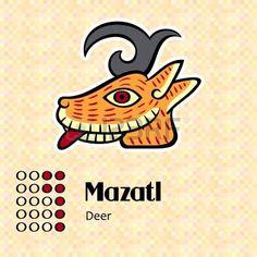maya: Azteekse kalender symbolen - Mazatl of herten 7