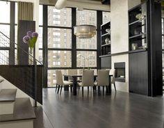 loft dining room - Model Home Interior Design Luxury Dining Room, Dining Room Design, Dining Room Table, Dining Furniture, Dining Set, Modern Furniture, Style At Home, Chicago Lofts, Regal Design