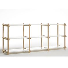 Hay low shelving system, white