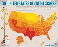 The United States of Credit Scores   Finance Infographics