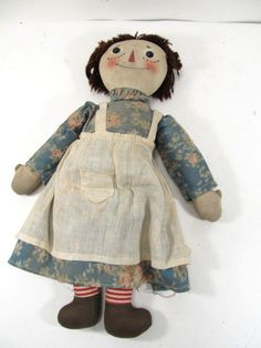Antique Volland Raggedy Ann Doll Stamped September 7 1915