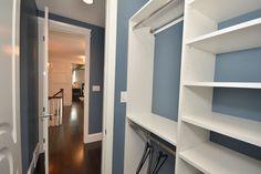 Custom White Shelving Custom Closet Design, Custom Closets, Master Bedroom Closet, Small Closets, White Shelves, Bathroom Medicine Cabinet, Shelving, Locker Storage, Shelf