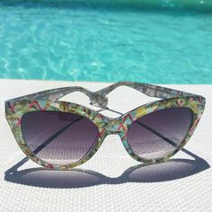 """All set for #summer with Christian Lacroix """"Canopy"""" #sunglasses 😎 #ChristianLacroix #Summertime #SwimmingPool #Blue"""