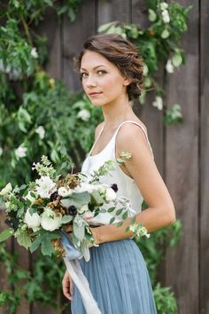 Southern Sophistication Light Blue Bridesmaid Inspiration- The Celebration Society