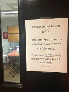 How to enter a room full of programmers
